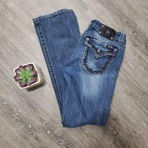 Miss Me Jeans JS5672B2 Boot Cut Sz 31 Studded Bling Pockets
